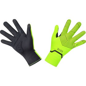 GORE WEAR C3 Gore-Tex Infinium Stretch Mid Gloves, neon yellow/black